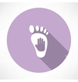 leg and hand print icon vector image vector image