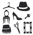 Fashion pictogram set vector image