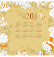retro stylized calendar for 2012 vector image vector image