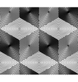 Endless monochrome symmetric pattern graphic vector image