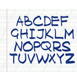 handwritten English alphabet vector image