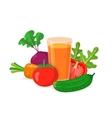 Glass of vegetable juice vector image