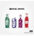 Drinks set vector image