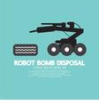 Robot Bomb Disposal vector image