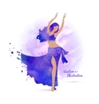 Belly dancer vector image
