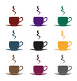 coffee cup icon in black style isolated on white vector image