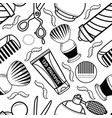 flat barber shop tool icon seamless pattern vector image