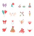 Icons Valentine s Day vector image