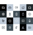 Multimedia icons Flat vector image
