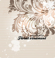 Retro Floral Ornament Design vector image