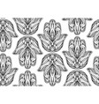 seamless pattern with contour of hamsa with boho vector image