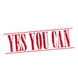 yes you can red grunge vintage stamp isolated on vector image