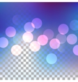 Blue bokeh effect vector image vector image