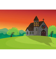 a church in beautiful nature vector image vector image