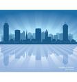 Hamilton Canada skyline city silhouette vector image vector image