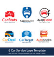 car service logo template design vector image
