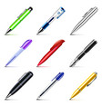 different pens icons set vector image vector image