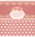 Greeting card Vintage background vector image vector image