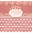 Greeting card Vintage background vector image