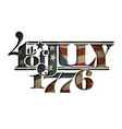 4th of July 1776 Cut Out vector image