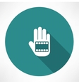 film in hand icon vector image vector image