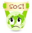 ecology concept sos vector image