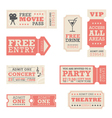 Entertainment Tickets vector image