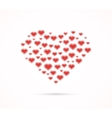 Heart shape with love hearts vector image