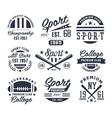 Monochrome Sport Emblems Labels Badges Logos vector image