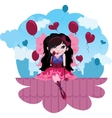 Cute love fairy cartoon vector image