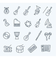 music instruments icons vector image