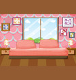 bedroom with pink furniture vector image