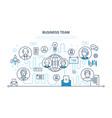 business team teamwork communication vector image