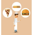 Delicius food Chef icon Delivery concept vector image