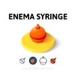 Enema syringe icon in different style vector image
