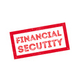 Financial Secutity rubber stamp vector image