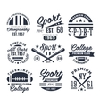 Monochrome Sport Emblems Labels Badges Logos vector image