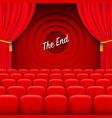 scene cinema the end background vector image