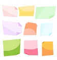 Sticky notes Stationery clip vector image