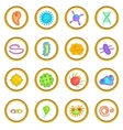 Virus set cartoon style vector image