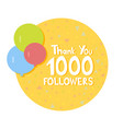 thank you social network followers concept vector image