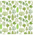 trees pattern sketch seamless green tree pattern vector image