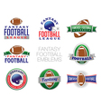 Fantasy Football Emblems vector image