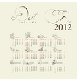 template for calendar 2012 vector image