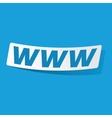 WWW sticker vector image