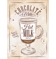 Poster chocolate milk kraft vector image