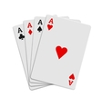 Four aces playing cards icon realistic style vector image