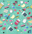 abstract seamless pattern with medication pills vector image