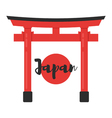 flat style of Japanese traditional gate vector image