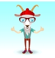 Goat hipster character vector image